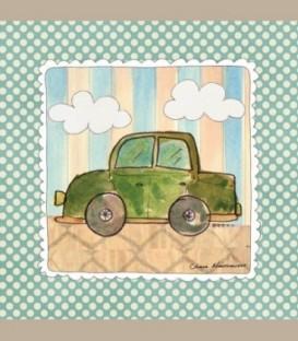 """Καδράκι τοίχου """"Πράσινο αυτοκινητάκι"""" 20 x 20εκ."""