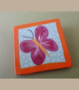 Πεταλούδα μωβ - καρφίτσα