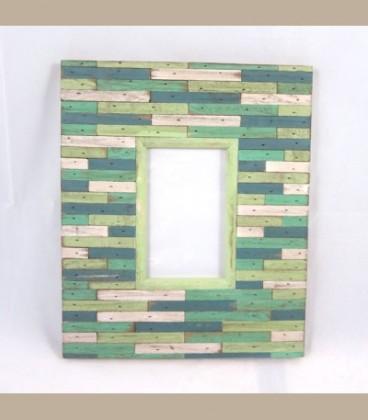 Κορνίζα για φωτογραφία ξύλινη μαρκετερί 30cmX26cm