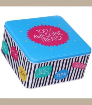 Μεταλλικό κουτί 100% Awesome Treats!