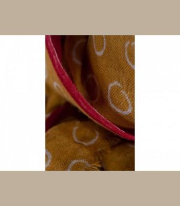 Φουλάρι μουσταρδί με κύκλους