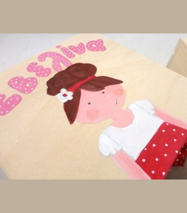 Ξύλινο κουτάκι handpainted για κοριτσάκι