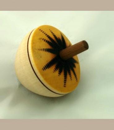 Ξύλινη Σβούρα Sun Egg Yellow 134