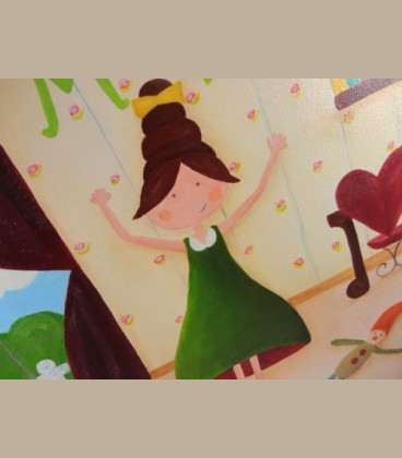 """Πίνακας """"Κοριτσίστικο δωμάτιο Β'' 40 εκ Χ 40 εκ"""