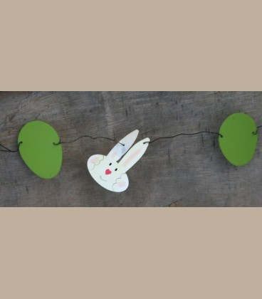 Μεταλλική γιρλάντα λαγουδάκια -αυγό