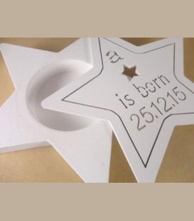 Πιστοποιητικό γέννησης - Ξύλινο κουτί αστέρι A star is born