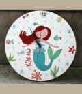 """Παιδικό ρολόι τοίχου """"Γοργόνα"""""""