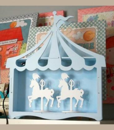 Χειροποίητο ξύλινο φωτιστικό Carousel