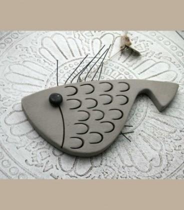 Κεραμικό ψάρι με λέπια Β