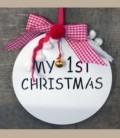 Στολίδι 15εκ My first Christmas για κοριτσάκι