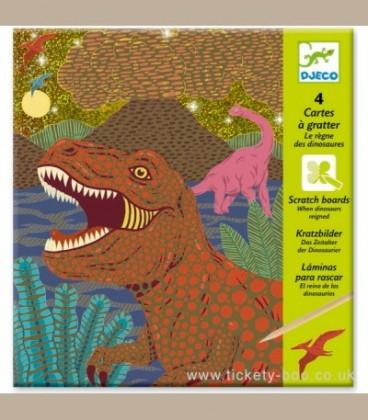 """Djeco - Ανακαλύπτω ξύνοντας την εικόνα 'Δεινόσαυροι"""" +6y"""