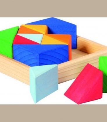 Δίσκος με ξύλινα τριγωνικά σχήματα +3y