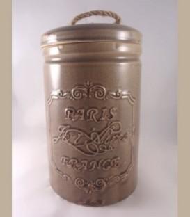 Vintage κεραμικό δοχείο ανοιχτό καφέ