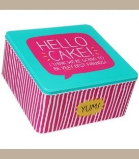 Μεταλλικό κουτί Hello Cake