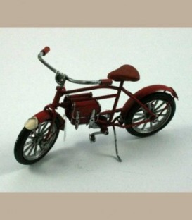 Ρετρό μεταλλικό ποδήλατο κόκκινο 16cm