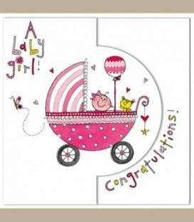 Ευχετήρια κάρτα New Baby Girl