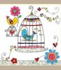 """Ευχετήρια κάρτα Happy Birthday """"Birds"""""""