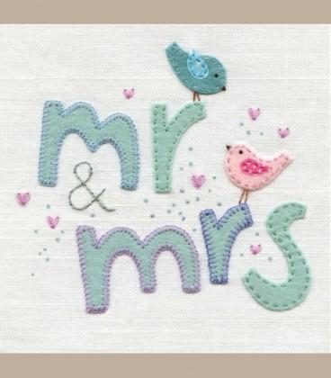 Ευχετήρια κάρτα Mr and Mrs