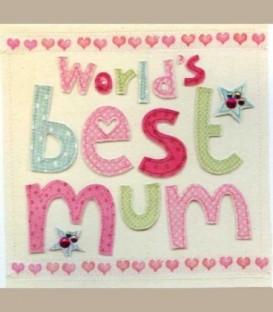 """Ευχετήρια κάρτα """"World's best mum"""""""