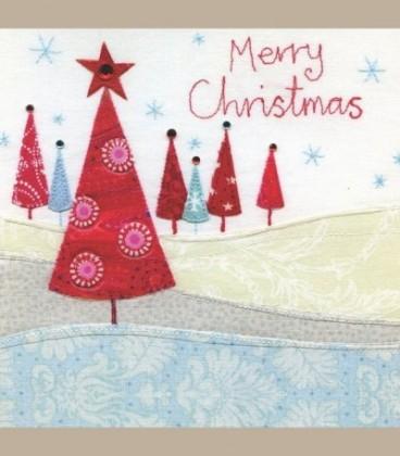 Ευχετήρια κάρτα Merry Christmas Χριστουγεννιάτικα Δέντρα