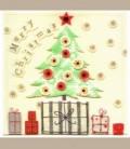 Ευχετήρια κάρτα Merry Christmas Tree
