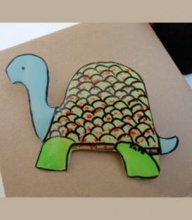 Χειροποίητη  καρφίτσα χελώνα από αλπακά