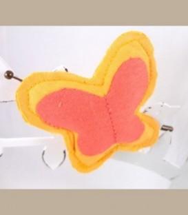 Πεταλούδα Καρφίτσα  Κίτρινο Ρόζ