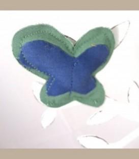 Πεταλούδα Καρφίτσα  Πράσινο -μπλε