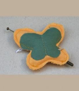 Πεταλούδα Καρφίτσα Κίτρινο Πράσινο