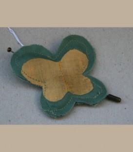Πεταλούδα Καρφίτσα Πράσινο κίτρινο