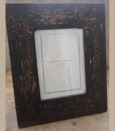 Ξύλινη κορνίζα με παλάιωση μάυρο χρυσό