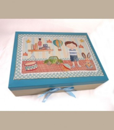 """Ξύλινο κουτί """"Παιδικό δωμάτιο"""" αγόρι"""