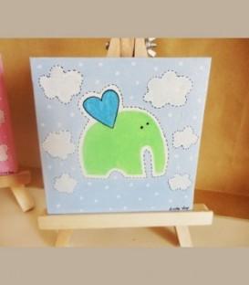 Καδράκι γαλάζιο ελεφαντάκι