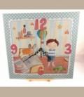 """Ρολόι τοίχου """"Παιδικό δωμάτιο"""" αγόρι 30 x 30εκ."""