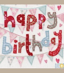 Ευχετήρια κάρτα Happy Birthday - σημαιάκια