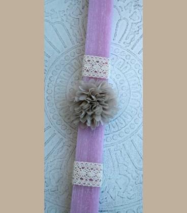 Πασχαλινή λαμπάδα Λουλούδι Μπεζ