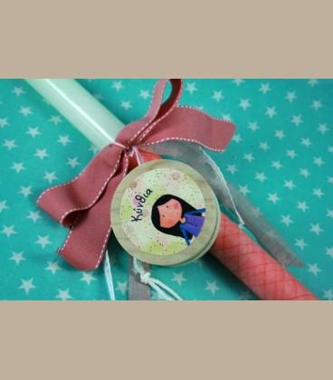 Πασχαλινή personalized λαμπάδα γιο-γιο κοριτσάκι 225