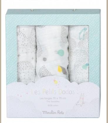 Moulin Roty - Σετ με 3 πετσέτες για μωράκια B