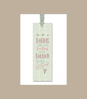 Σελιδοδείκτης με μήνυμα A teacher takes a hand....