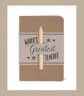 Σημειωματάριο με μολύβι - Worlds greatest teacher