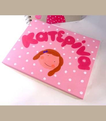 Ξύλινο κουτί μπιζουτιέρα για κοριτσάκι