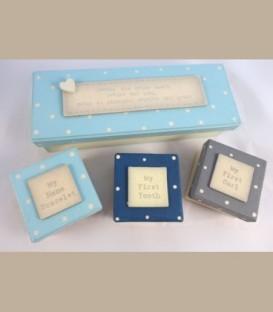 Σετ κουτάκια αναμνηστικά μωρού για αγόρι