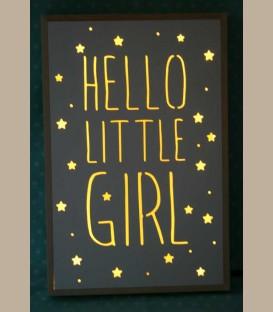 Ξύλινο φωτιστικό led - Hello Little Girl