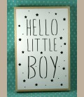 Ξύλινο φωτιστικό led - Hello Little Boy