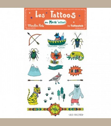 Moulin Roty - Σετ παιδικά tatoo Adventure