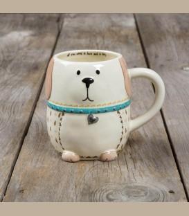Κεραμεική κούπα σκυλάκι Dog Folk Art