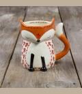 Κεραμεική κούπα αλεπουδίτσα Dog Folk Art