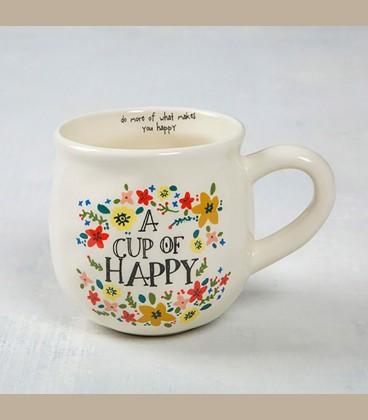 """Κεραμεική κούπα Cup of Sunshine Happy """"Do more of what..."""""""