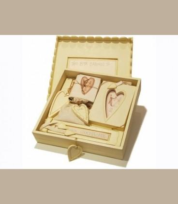 Σετ ξύλινο κουτί γέννησης για τα αναμνηστικά
