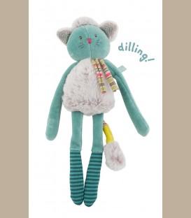 Moulin Roty - Κουδουνίστρα γαλάζιος Γάτος